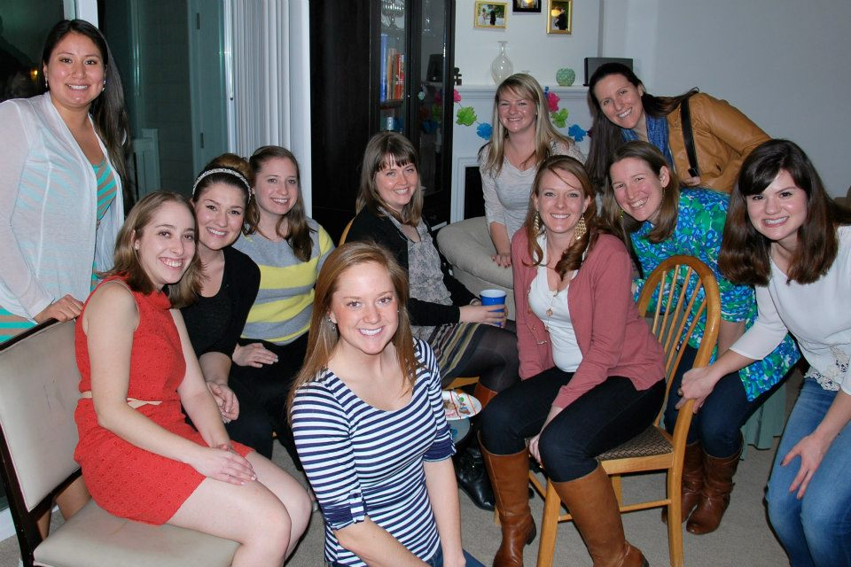 With ladies from our first unit (+ some other excellent friends) at my birthday party. Photo by Bethany Lackie.